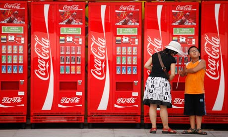 Coca-Cola vending machines at the Beijing Olympics