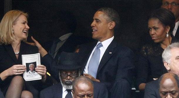 Michelle-Obama-unhappy-at-Mandela-memorial